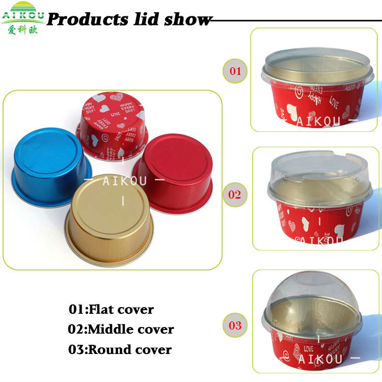 Round Microwave Oven Aluminium Foil Food Container For Cake Cup ...