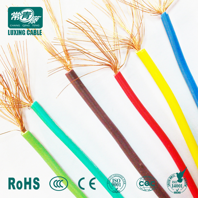 IEC BS Standard price list of wire electrical house wiring from Shandong New Luxing cable factory
