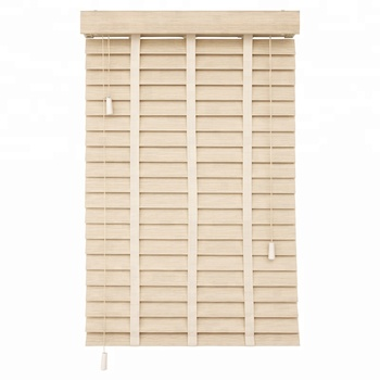 2'' Fauxwood Venetian Blinds Foam Wood Window Blinds with Ladder Tape Ladder String