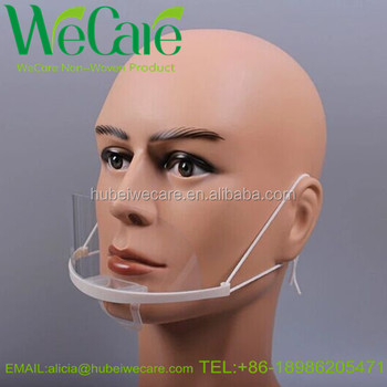 On Plastic Washable Mask Product Face transparent Mouth clear Mask - Buy Mask Transparent Sanitary Chef