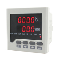 WSK302 Digital Temperature and Humidity Controller with Probe 250VAC 4A 72*72mm for Power Distribution Cabinet