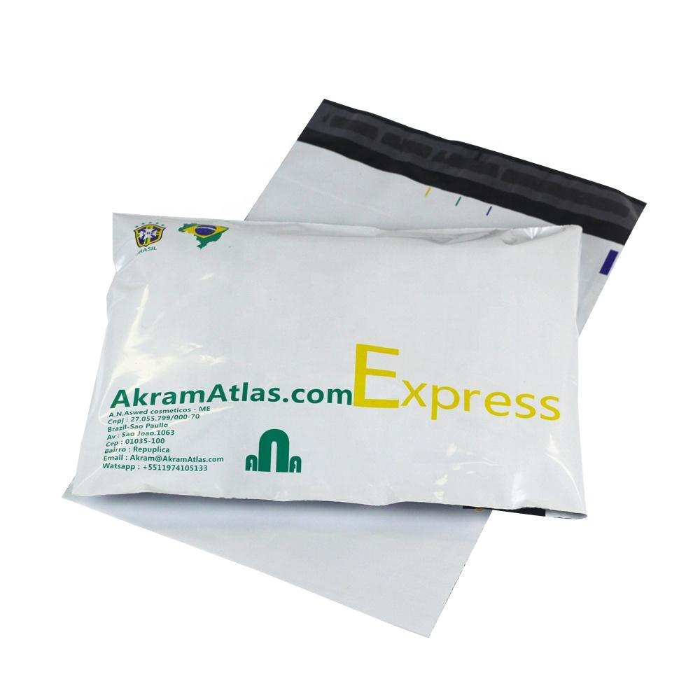 कस्टम मुद्रित कपड़े वितरण एक्सप्रेस के साथ biodegradable के पर्यावरण के अनुकूल प्लास्टिक मेलिंग कूरियर बैग लोगो
