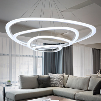 Blue Time New Modern Pendant Lights For Living Room Dining Circle Rings Acrylic Led Lighting