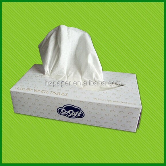 Fine and super soft facial box tissue with pure wood pulp
