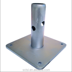 Scaffolding Accessories Steel Base Plate / Threaded Base Plate for Ringlock Scaffolding