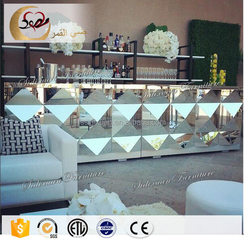 night club tempered glass bar juice bar counter design for sale