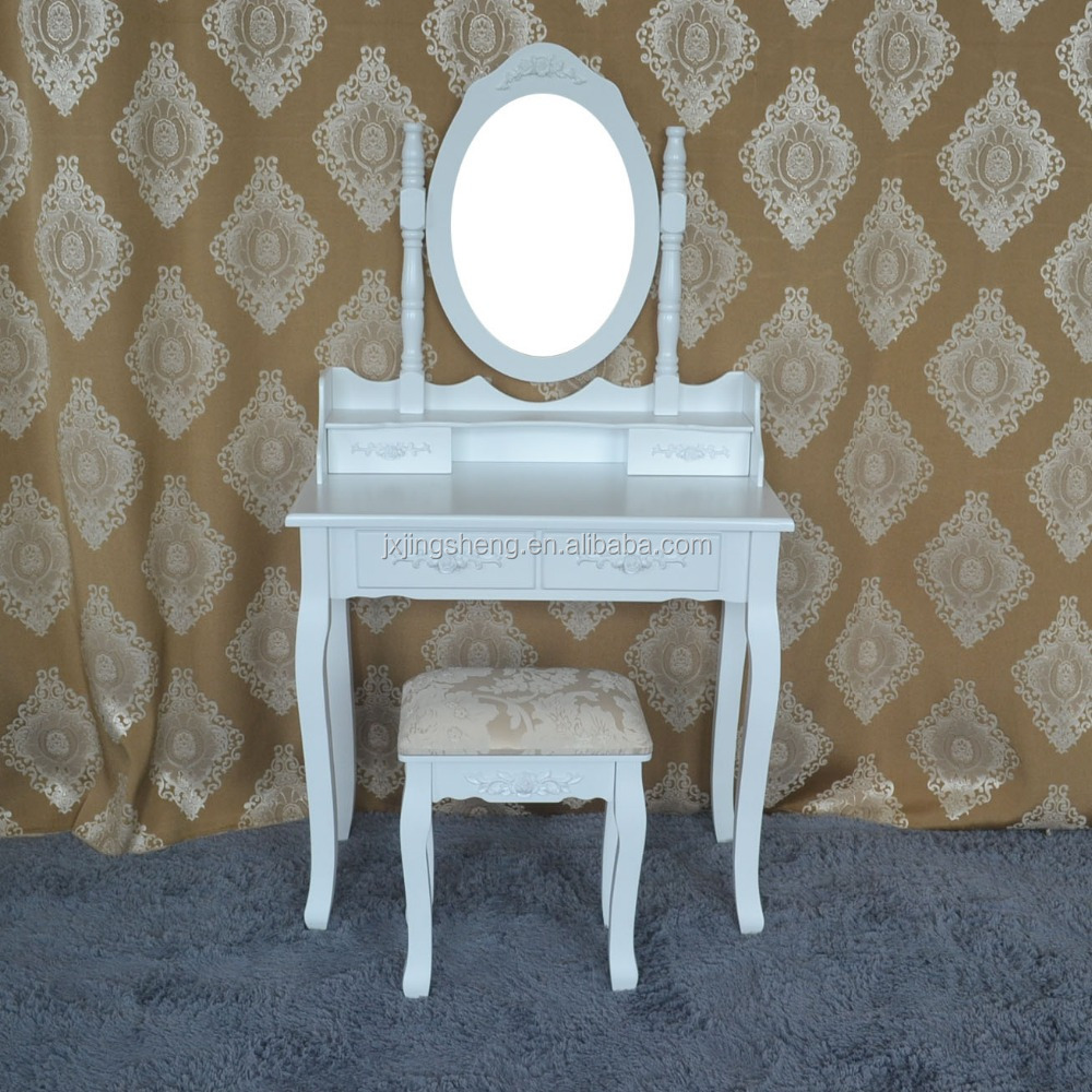 Hot selling modern french mirrored dressing table three drawers buy