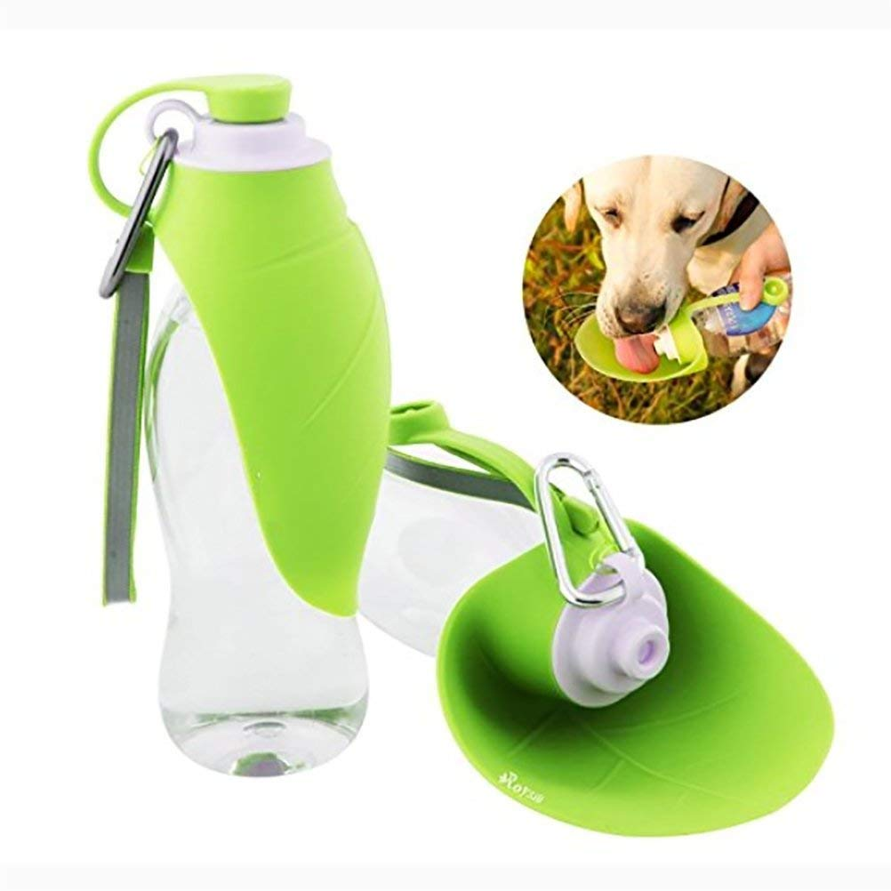9a12a29ab8 Get Quotations · DAN 20 Oz Fast And Easy Portable Dog Water Bottle,  Expandable Travel Bowl,Food