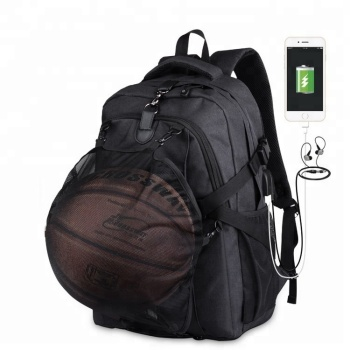 Large Capacity Customizable Outdoor USB Charging Bag Travel Laptop Sports Basketball Backpack