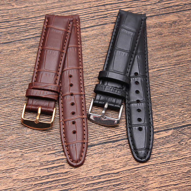 Handmade Band 20mm 21mm 22mm interchangeable genuine leather changeable watch strap