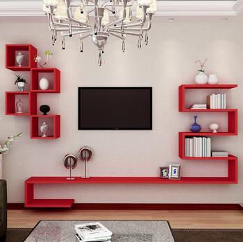 Kreatif Tv Latar Belakang Dinding Dekoratif Bingkai Kabinet Ruang Tamu Pemodelan Set