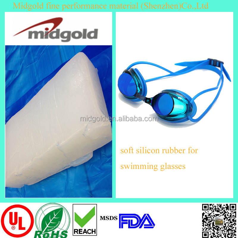HTV soft silicon rubber for fashionable swimming glasses