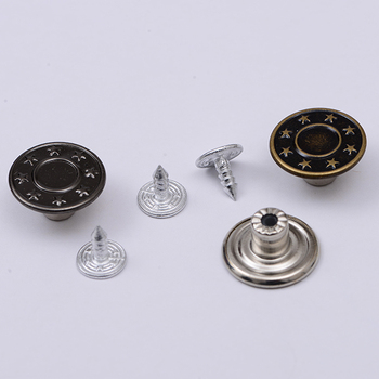 High quality shake Silver Jeans Buttons
