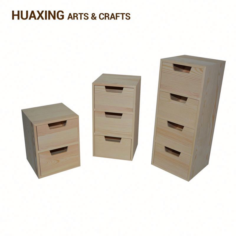 Wooden Top Plastic Drawer Units