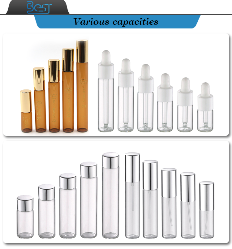 5ml 8ml 10ml cosmetic packaging tube frosted serum glass bottle with dropper