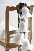 Hanging Paper Honeycomb Christmas Bell