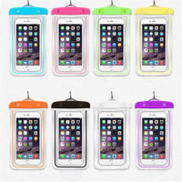 free sample universal mobile dry bag tpu carrying waterproof cell phone case for iphone 7 6s for samsung note j7