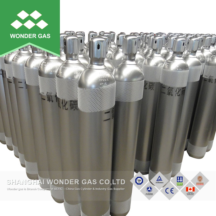 High Pressure 23.6L Co2/Oxygen/Argon High Pressure Gas Cylinders for Sale