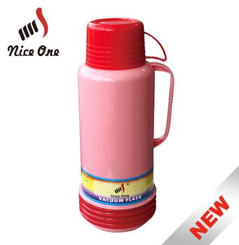 wholesale 1800ml plastic vacuum flask glass inner can custom printed