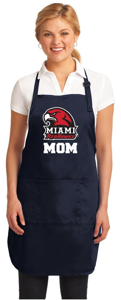 Miami University Mom Apron Miami RedHawks Mom APRONS for BBQ, Cooking, Kitchen