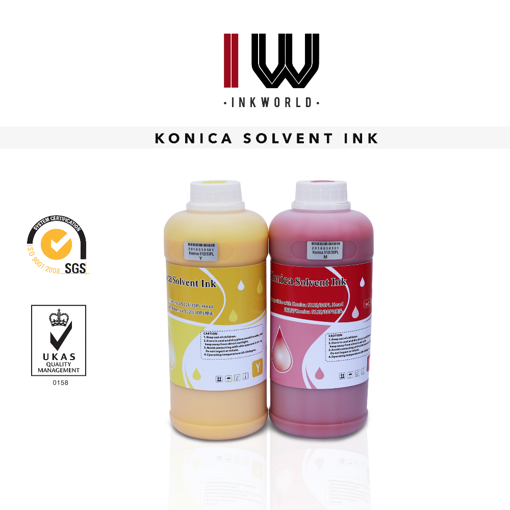 No smell konica 512I solvent ink,no clog head good color solvent ink