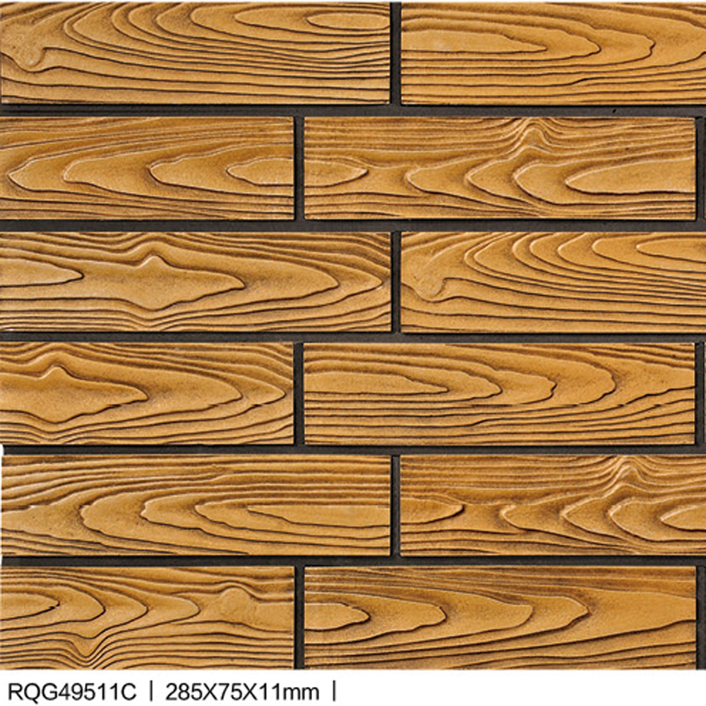 Wood Rock Porcelain Bricks Wall Tiles