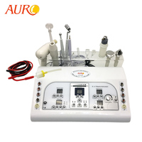AU-8208 2019 Hot Sale Ultrasonic Facial Massage Device/ Galvanic High Frequency Equip/ Skin Tightening Machine