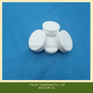 Trichloroisocynuric Acid (Tcca 90) & Sdic 60 (NaDCC 60) white tablet use for pool water treatment