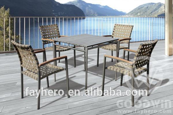 Gw4018 nuevo diseño muebles de exterior polywood mesa de comedor ...