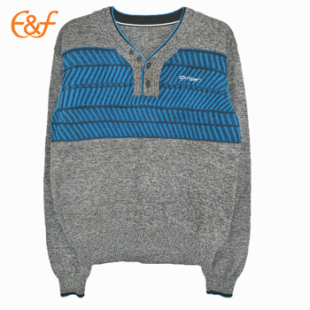 V Neck Men S Modern Shrug Pullover Sweater With Knitting Pattern