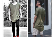 Wholesale Cheap Harajuku Extended T Shirt Men Kanye West Undershrits Tees Hip Hop T-Shirt Tops