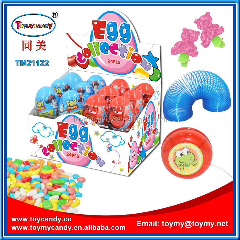 Wholesale cheap China surprise egg toy candy most popular products promotional samll egg toy hot selling goods in school shop