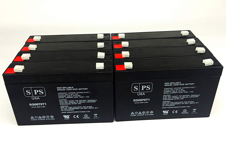 Tripplite RBC64-1U UPS 6V 7Ah Replacement Battery -SPS BRAND (8 PACK)