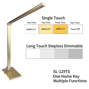 Anodizing Aluminium Golden Color ETL Approval LED Reading Lamp Table Lamp
