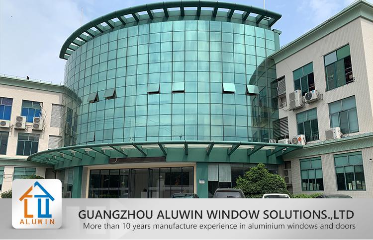 Horizontal Accordion Folding Glass Aluminium Windows Bi