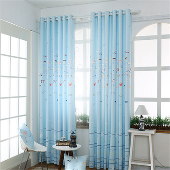 Cute Blackout Curtain Nemo Pattern For Kid Room Printed Curtain Fabric