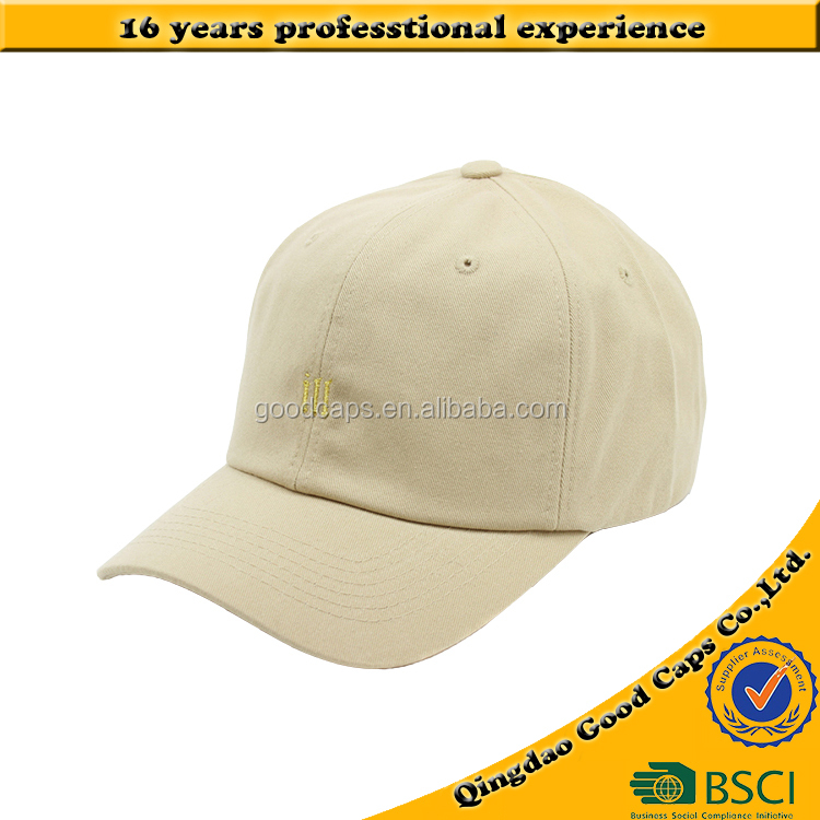 gold embroidered logo baseball caps and hats cotton twill sports cap high quality 6 panel dad hat