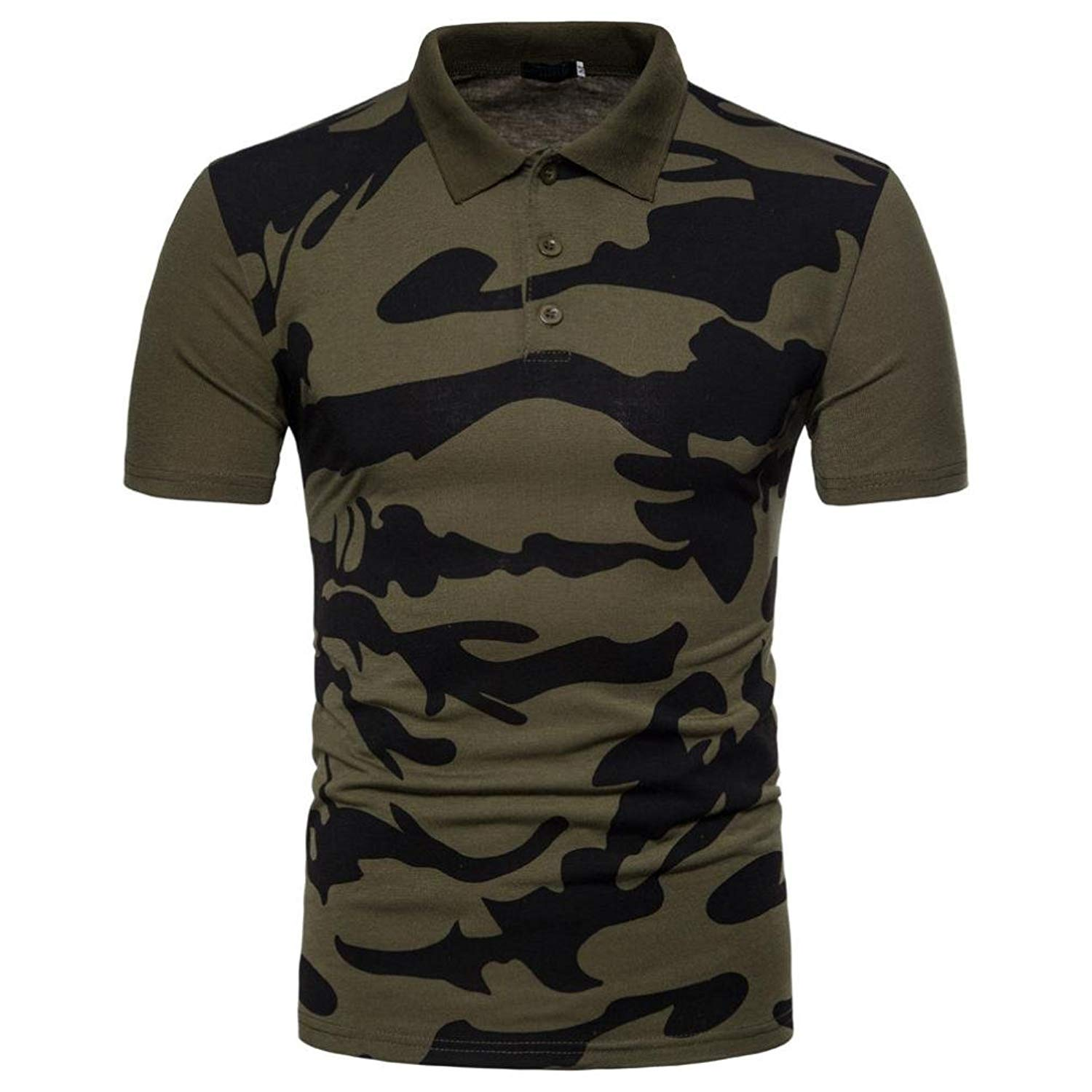 c69157e2 Get Quotations · BSGSH Men's Camouflage Athletic T-Shirts, Short Sleeve  Golf Polo Tees Shirts Pullover