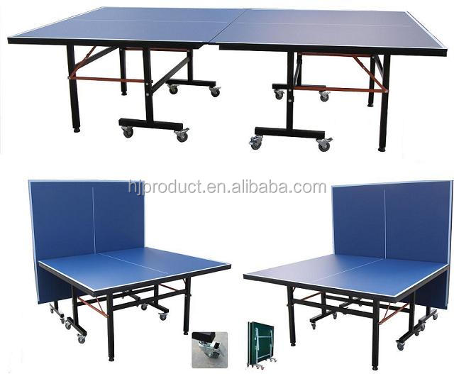 Folding & moving 16mm MDF top table tennis table / ping pong table indoor