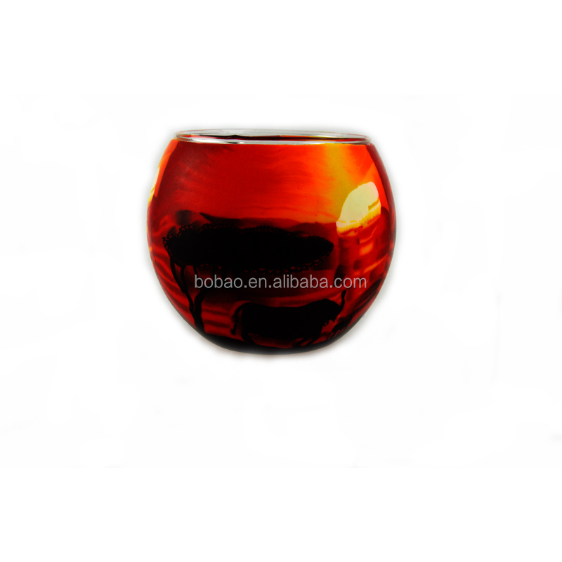 High quality mosaic glass votive candle holder for wedding decoration