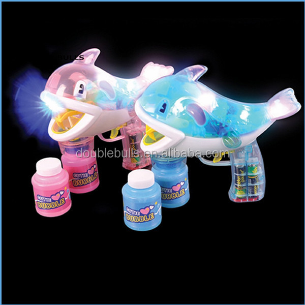 Bubble gun Music bubble gun Children's toys Toy gifts Bubble fish