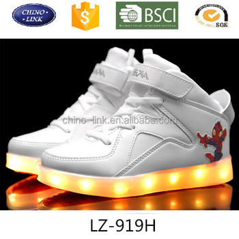 462910c9ada kids cool led light up shoes hot sale casual shoes high top sneaker SPIDER  MAN
