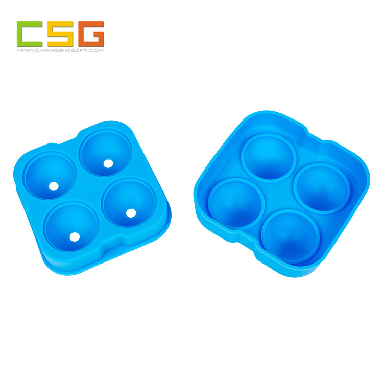 Hot sale flexible custom silicone ice cube mold tray sphere ice ball maker