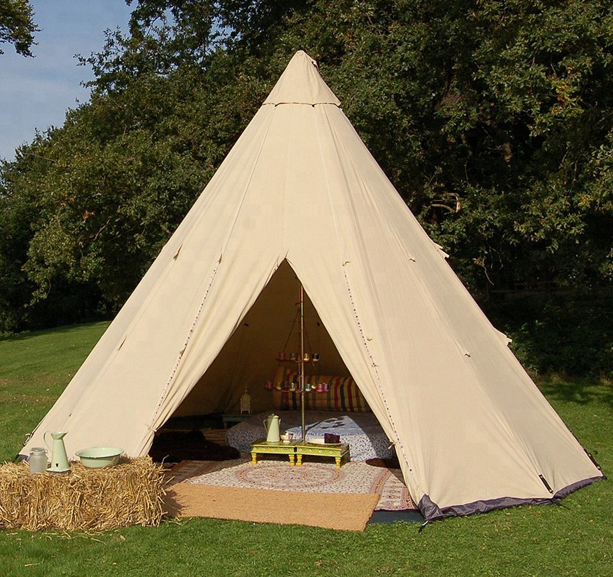 grande tenda tipi teepee per glamping party outdoor camping per adulti
