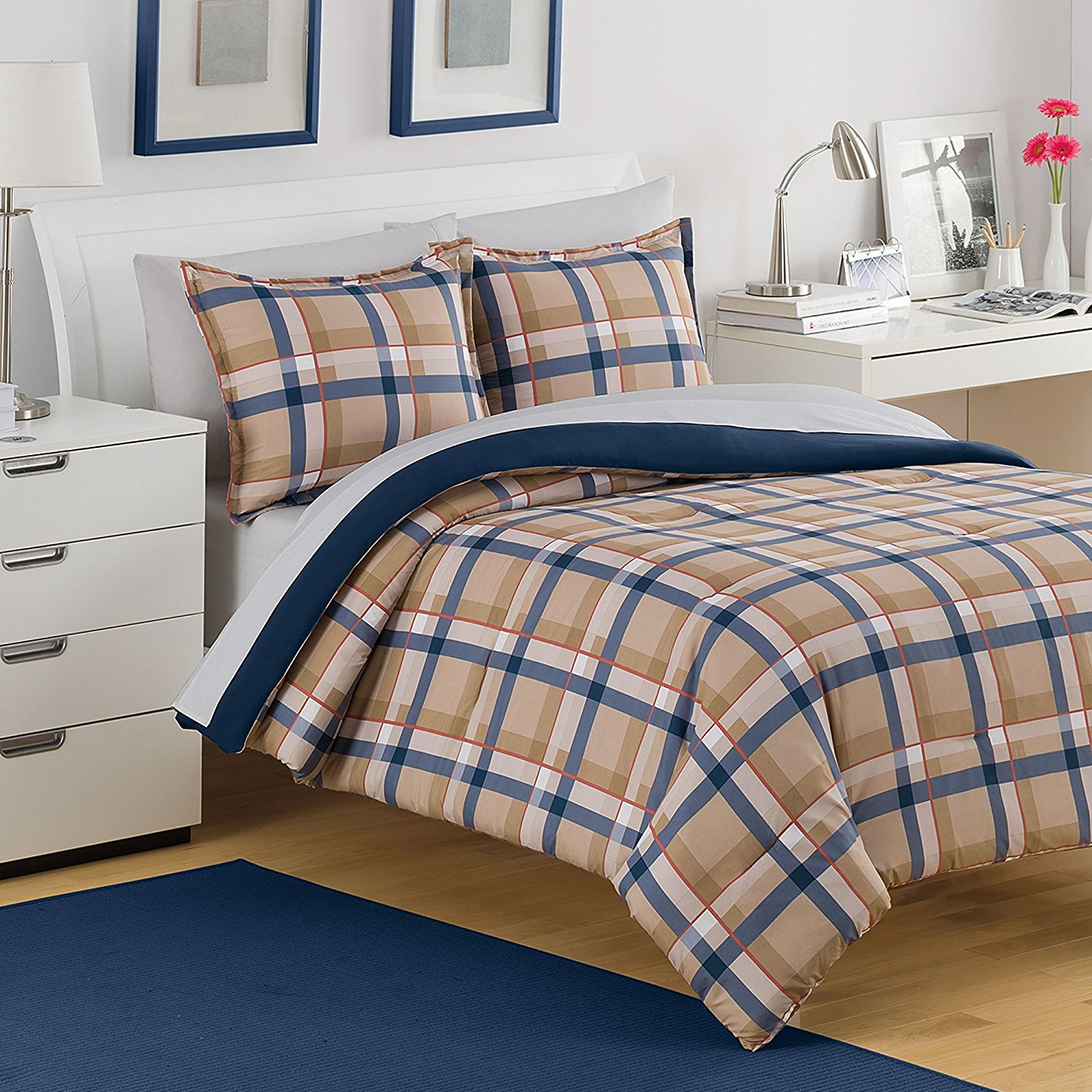 king co red aetherair sheets queen plaid walmart comforter pla blue asli