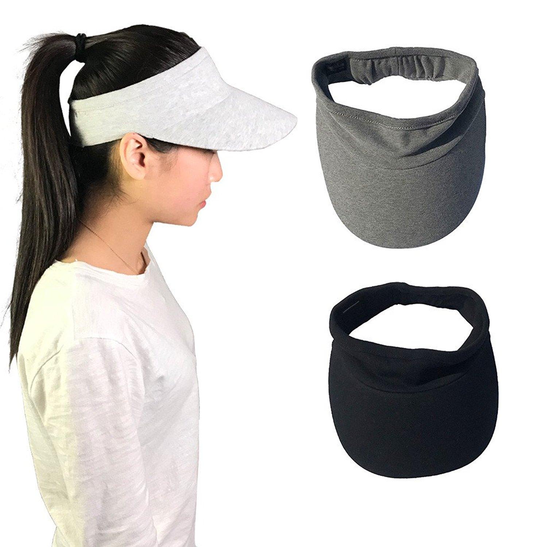 Get Quotations · Xingo Elastic Sun Hat Visors Hat for Women Men in Outdoor  Sports Jogging Running Tennis c3cb2c140aae