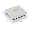 luxury matte ring high end jewelry custom logo white boxes