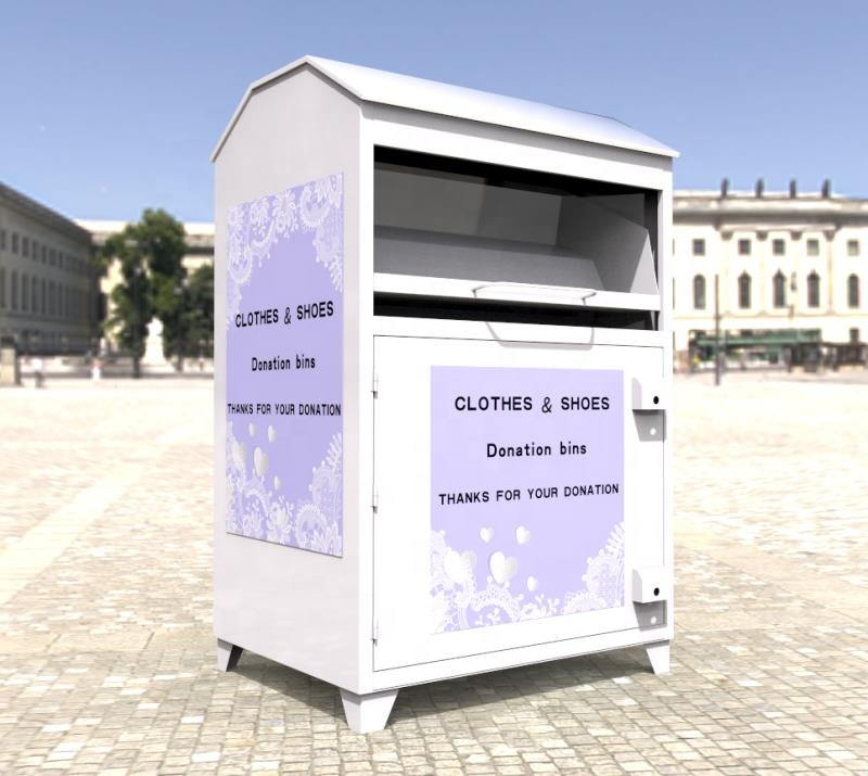used clothing donation bin clothes container box clothes drop box