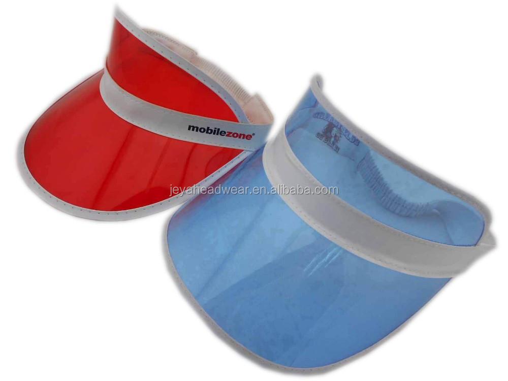 bf10ec2ee75 Fashion Transparent Pvc Eyeshade Perspex Sun Visor Cap Clear Pvc Visor -  Buy Pvc Visor