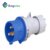 220v~240v IP44 16A 2P+E blue color nylon PA material YHT-N013 new model waterproof Industrial plug